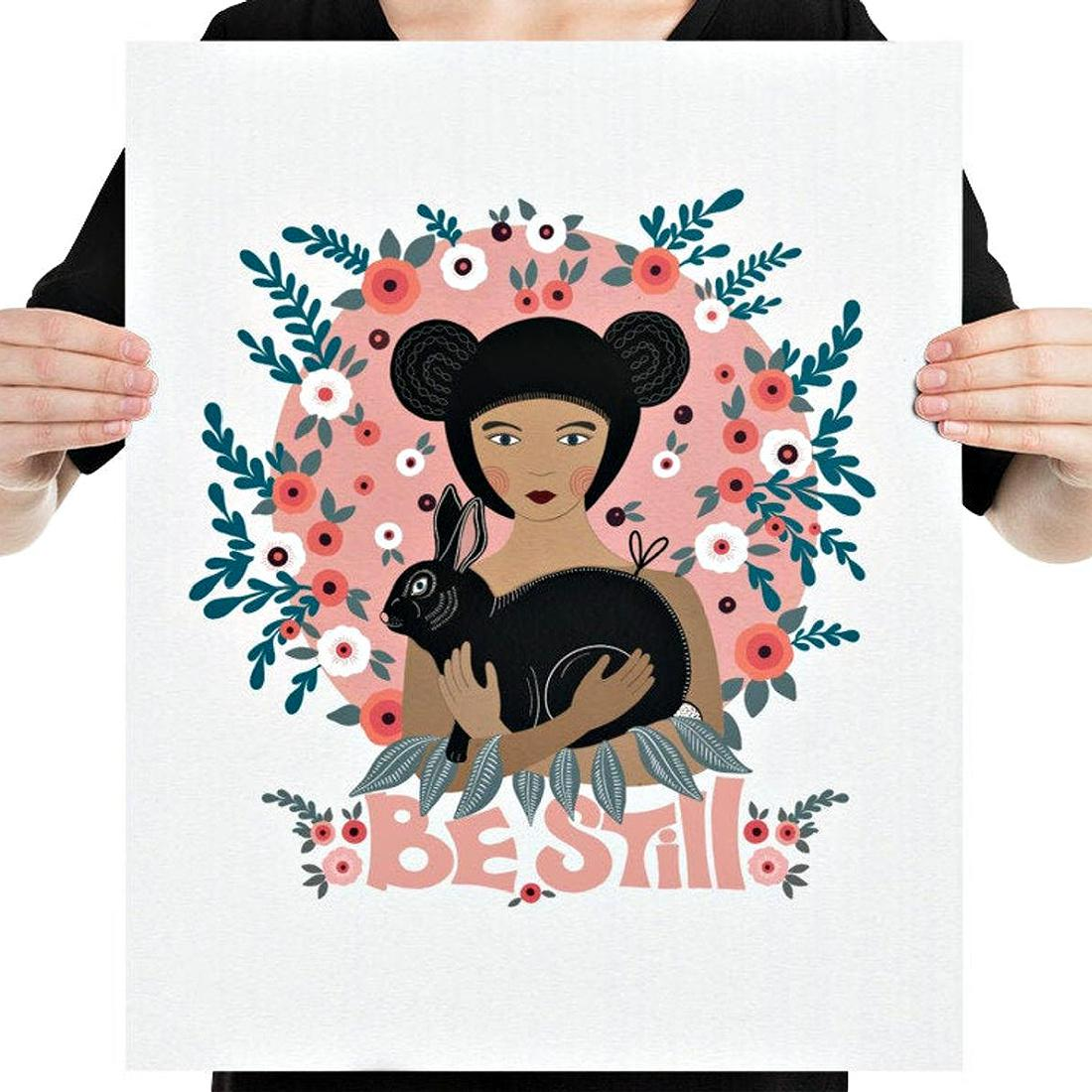 Be Still Wall Art Print