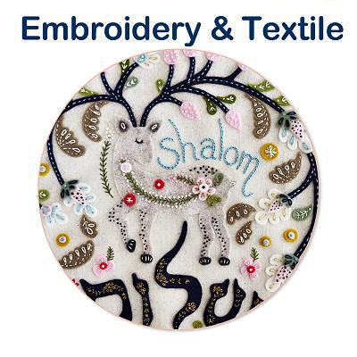 Embroidery & Felt Textile Art