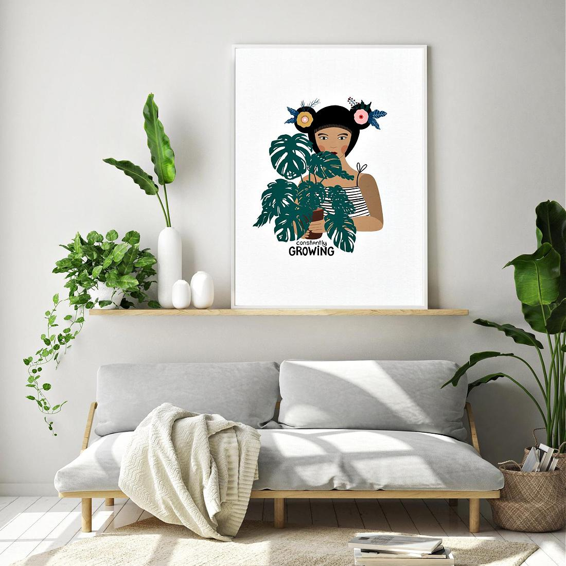 Constantly Growing Art Print