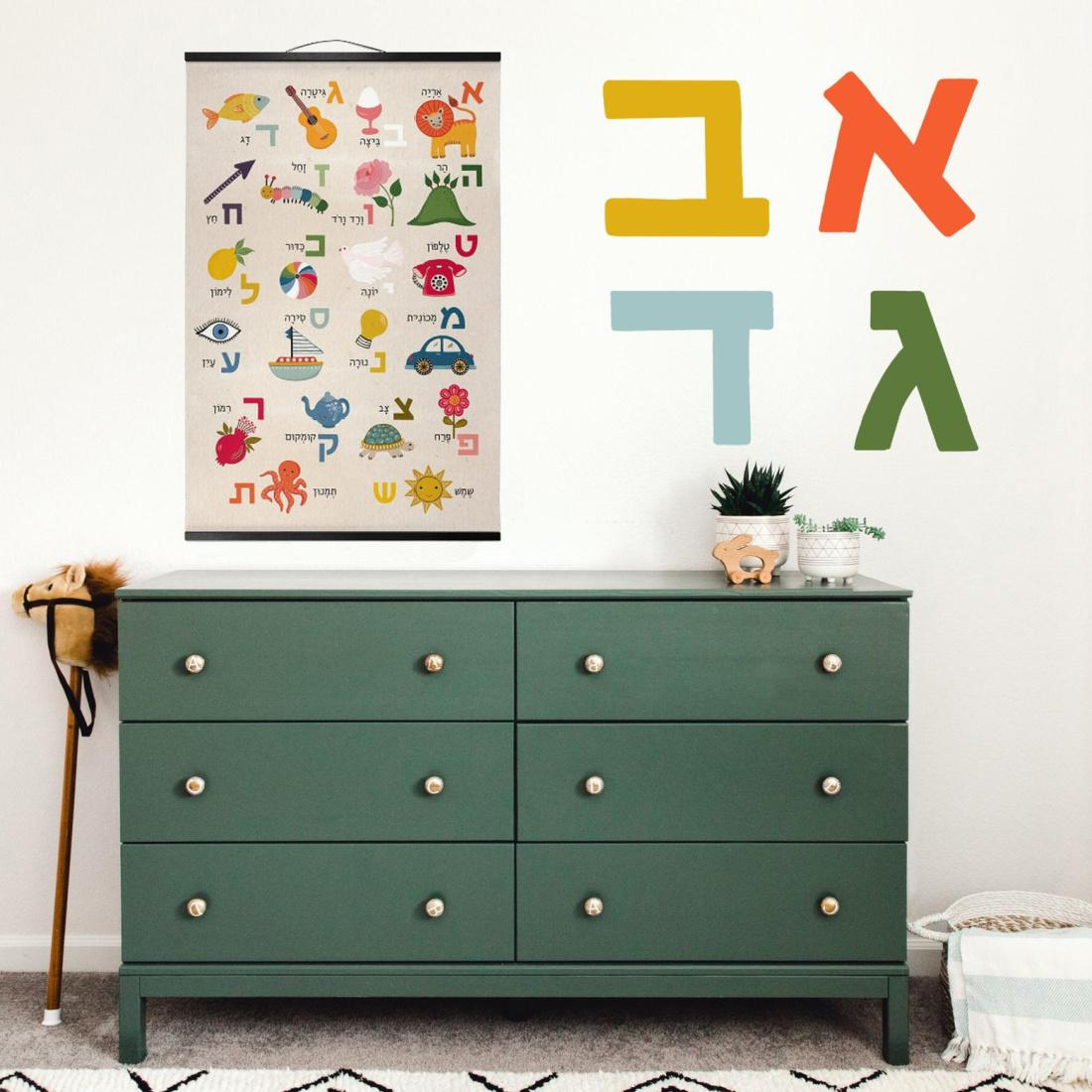 Hebrew Alphabet Poster
