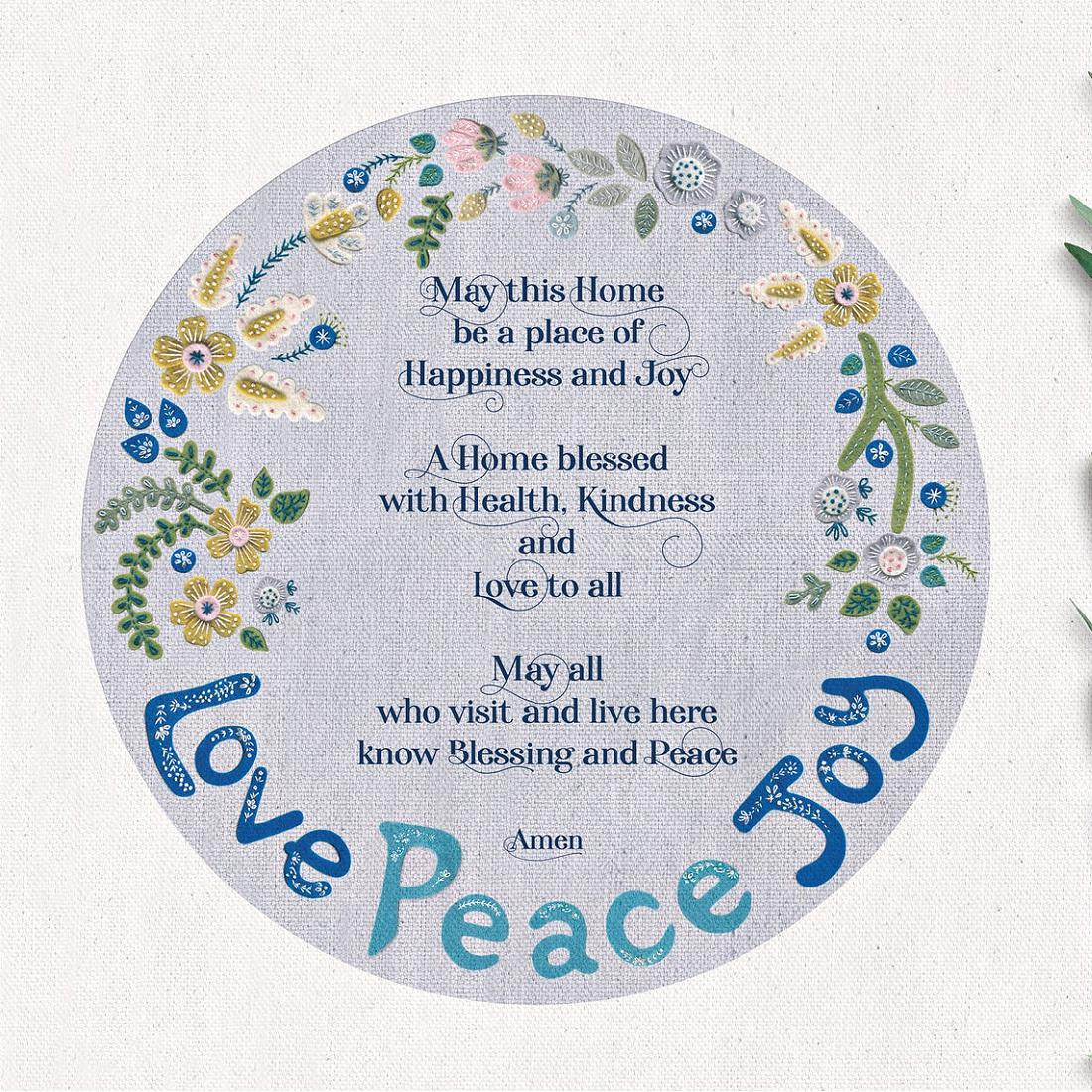 Love Peace Joy Home Blessing